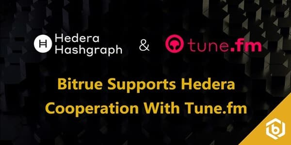 Bitrue Expands Hedera Support With Tune fm JAM Token