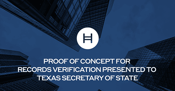 HH Blog Hyland and Hedera Hashgraph Present Blockchain Proof of Concept for Records Verification to Texas Secretary of State