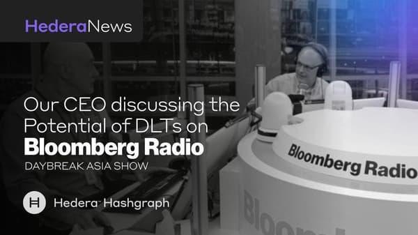 Hashgraph Solves Many Blockchain Problems Bloomberg Radio