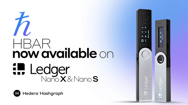 Hedera Hashgraph Announces Ledger Nano S And Nano X Wallet Implementations