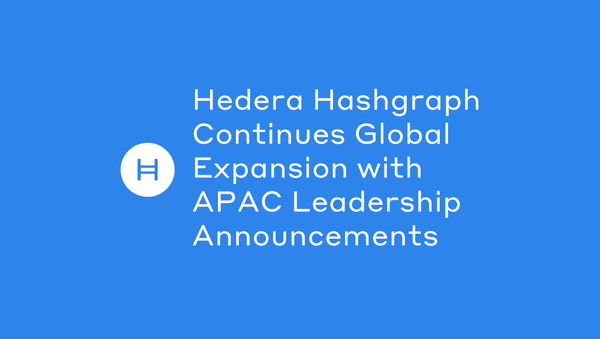 Hedera Hashgraph Continues Global Expansion With Apac Leadership Announcements