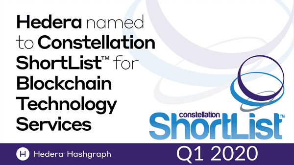 Hedera Named To Constellation Short List Tm For Blockchain Technology Services