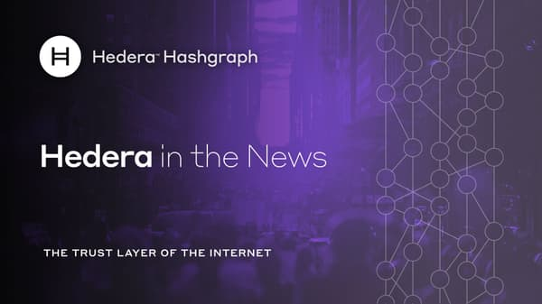 Hedera In The News Announcement
