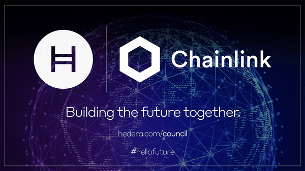 Hedera Chainlink Building The Future Together Banner