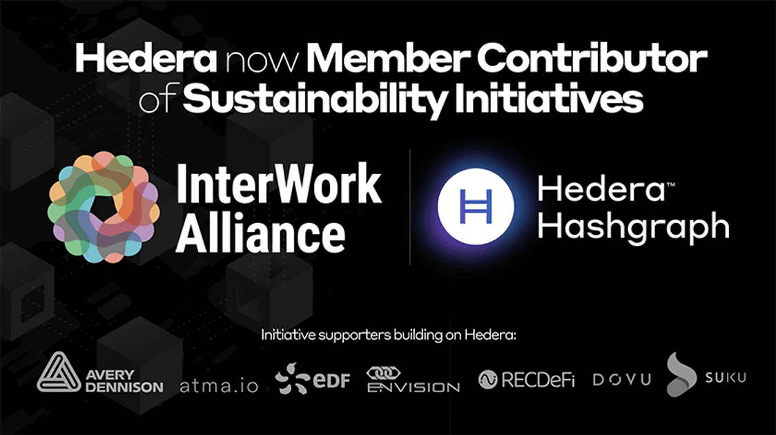 Hedera Hashgraph and Application Partners Collaborate with The InterWork Alliance on Sustainability Working Group Key Initiatives